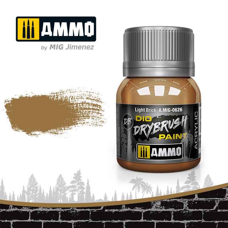 Ammo by Mig Jimenez Drybrush Light Brick - 40ml - Ammo by Mig Jimenez - A.MIG-0626
