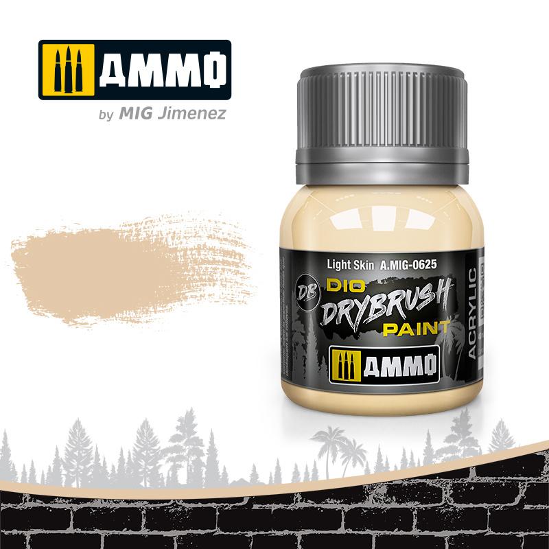 Ammo by Mig Jimenez Drybrush Light Skin - 40ml - Ammo by Mig Jimenez - A.MIG-0625
