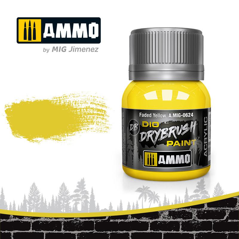 Ammo by Mig Jimenez Drybrush Faded Yellow - 40ml - Ammo by Mig Jimenez - A.MIG-0624