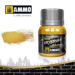 Drybrush Brass - 40ml - Ammo by Mig Jimenez - A.MIG-0623