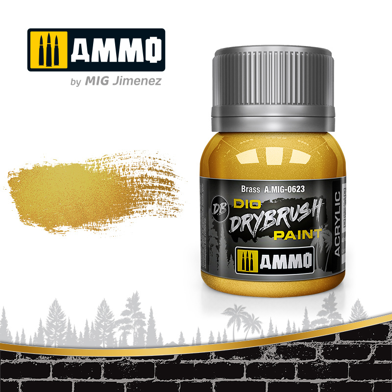 Ammo by Mig Jimenez Drybrush Brass - 40ml - Ammo by Mig Jimenez - A.MIG-0623