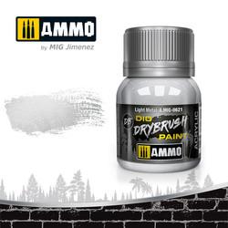 Drybrush Light Metal - 40ml - Ammo by Mig Jimenez - A.MIG-0621