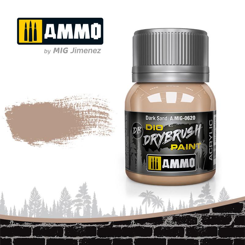 Ammo by Mig Jimenez Drybrush Dark Sand - 40ml - Ammo by Mig Jimenez - A.MIG-0620