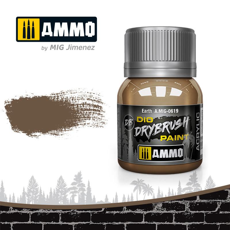 Ammo by Mig Jimenez Drybrush Earth - 40ml - Ammo by Mig Jimenez - A.MIG-0619