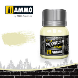 Drybrush Light Sand - 40ml - Ammo by Mig Jimenez - A.MIG-0616
