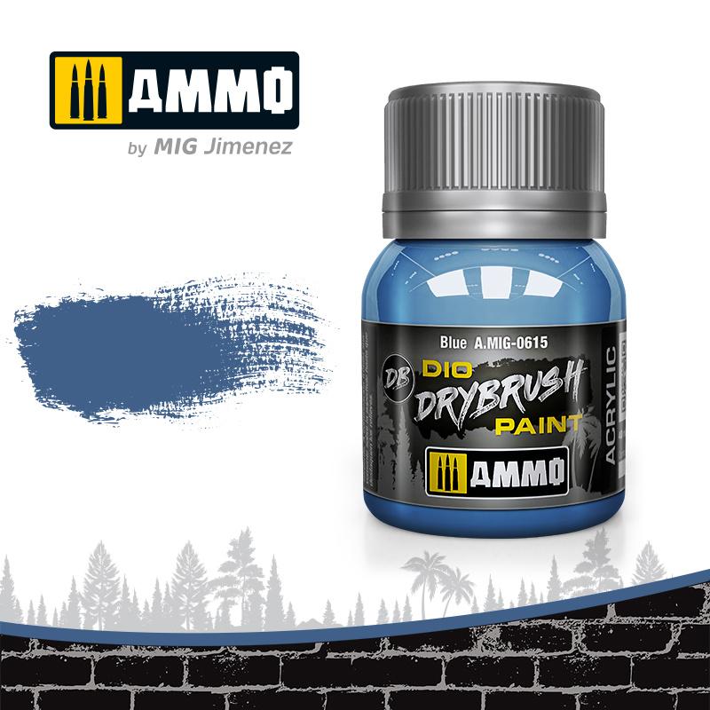 Ammo by Mig Jimenez Drybrush Blue - 40ml - Ammo by Mig Jimenez - A.MIG-0615