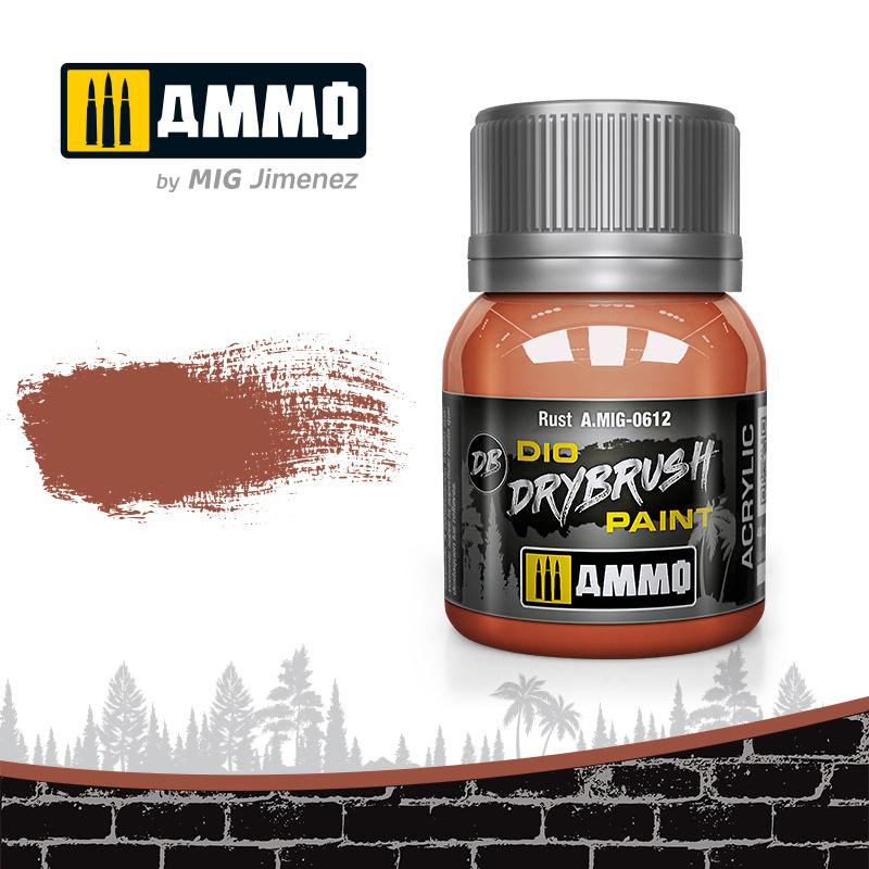 Ammo by Mig Jimenez Drybrush Rust - 40ml - Ammo by Mig Jimenez - A.MIG-0612