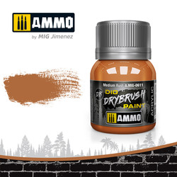 Drybrush Medium Rust - 40ml - Ammo by Mig Jimenez - A.MIG-0611