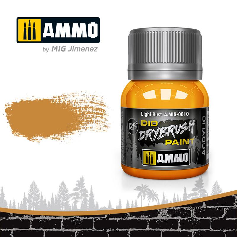 Ammo by Mig Jimenez Drybrush Light Rust - 40ml - Ammo by Mig Jimenez - A.MIG-0610
