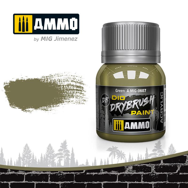 Ammo by Mig Jimenez Drybrush Green - 40ml - Ammo by Mig Jimenez - A.MIG-0607