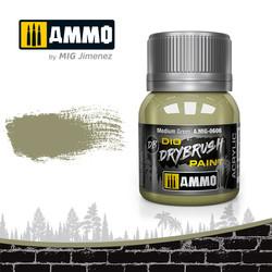 Drybrush Medium Green - 40ml - Ammo by Mig Jimenez - A.MIG-0606