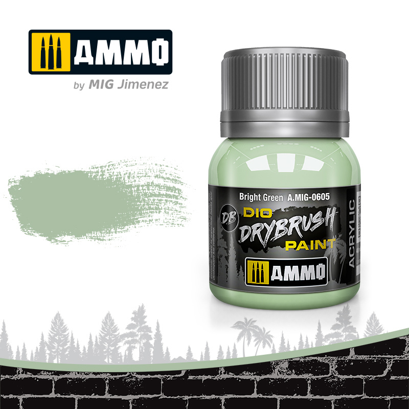 Ammo by Mig Jimenez Drybrush Bright Green - 40ml - Ammo by Mig Jimenez - A.MIG-0605