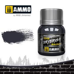 Drybrush Panzer Grey - 40ml - Ammo by Mig Jimenez - A.MIG-0604