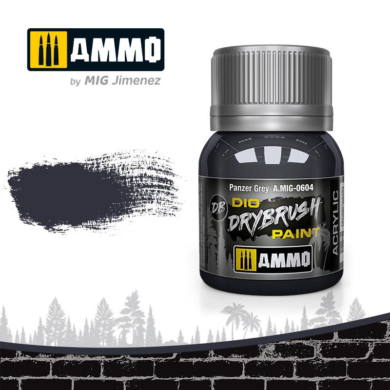 Ammo by Mig Jimenez Drybrush Panzer Grey - 40ml - Ammo by Mig Jimenez - A.MIG-0604