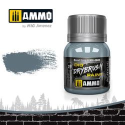 Drybrush Basalt Grey - 40ml - Ammo by Mig Jimenez - A.MIG-0603