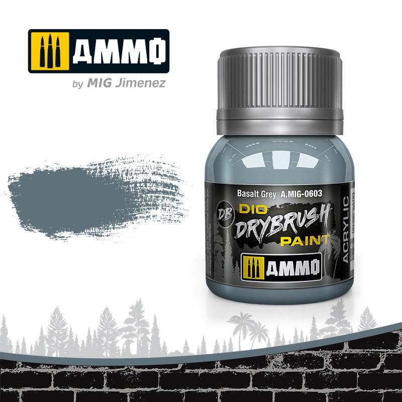 Ammo by Mig Jimenez Drybrush Basalt Grey - 40ml - Ammo by Mig Jimenez - A.MIG-0603