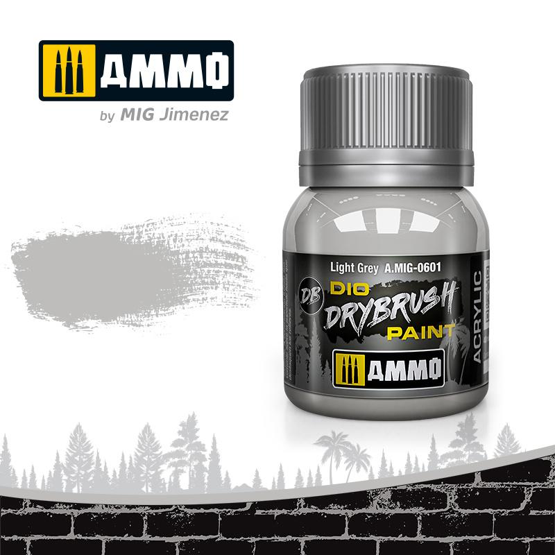 Ammo by Mig Jimenez Drybrush Light Grey - 40ml - Ammo by Mig Jimenez - A.MIG-0601