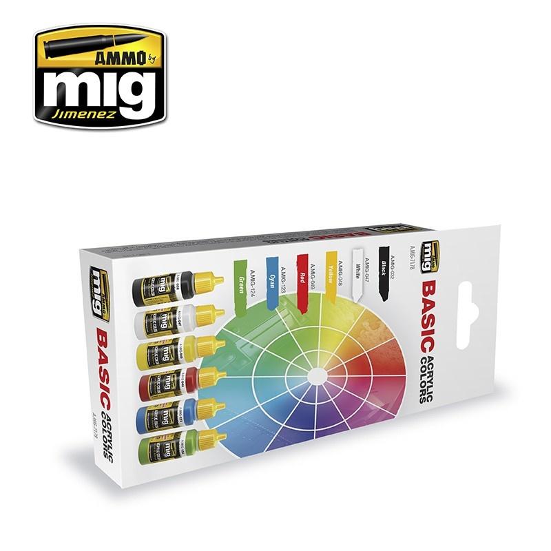 Ammo by Mig Jimenez Basic Acrylic Colors - A.MIG-7178