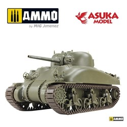 US Medium Tank M4A1 Mid Production - Scale 1/35 - Asuka - ASUKA35AS001