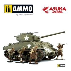 US M4A35(76) Sherman Battle Of Bulge - Scale 1/35 - Asuka - ASUKA35048