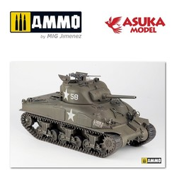 US Medium M4A1 With Cast Clucky Tiger - Scale 1/35 - Asuka - ASUKA35035