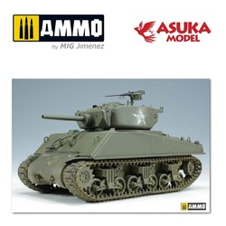 US M4A3E2 Sherman Jumbo - Scale 1/35 - Asuka - ASUKA35021