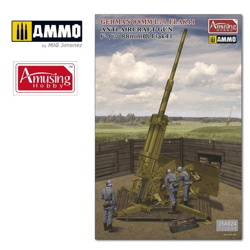 Amusing Hobby 8,8Cm L/71 Flak41 (W/Bonus) - Scale 1/35 - Amusing Hobby - AH35A024