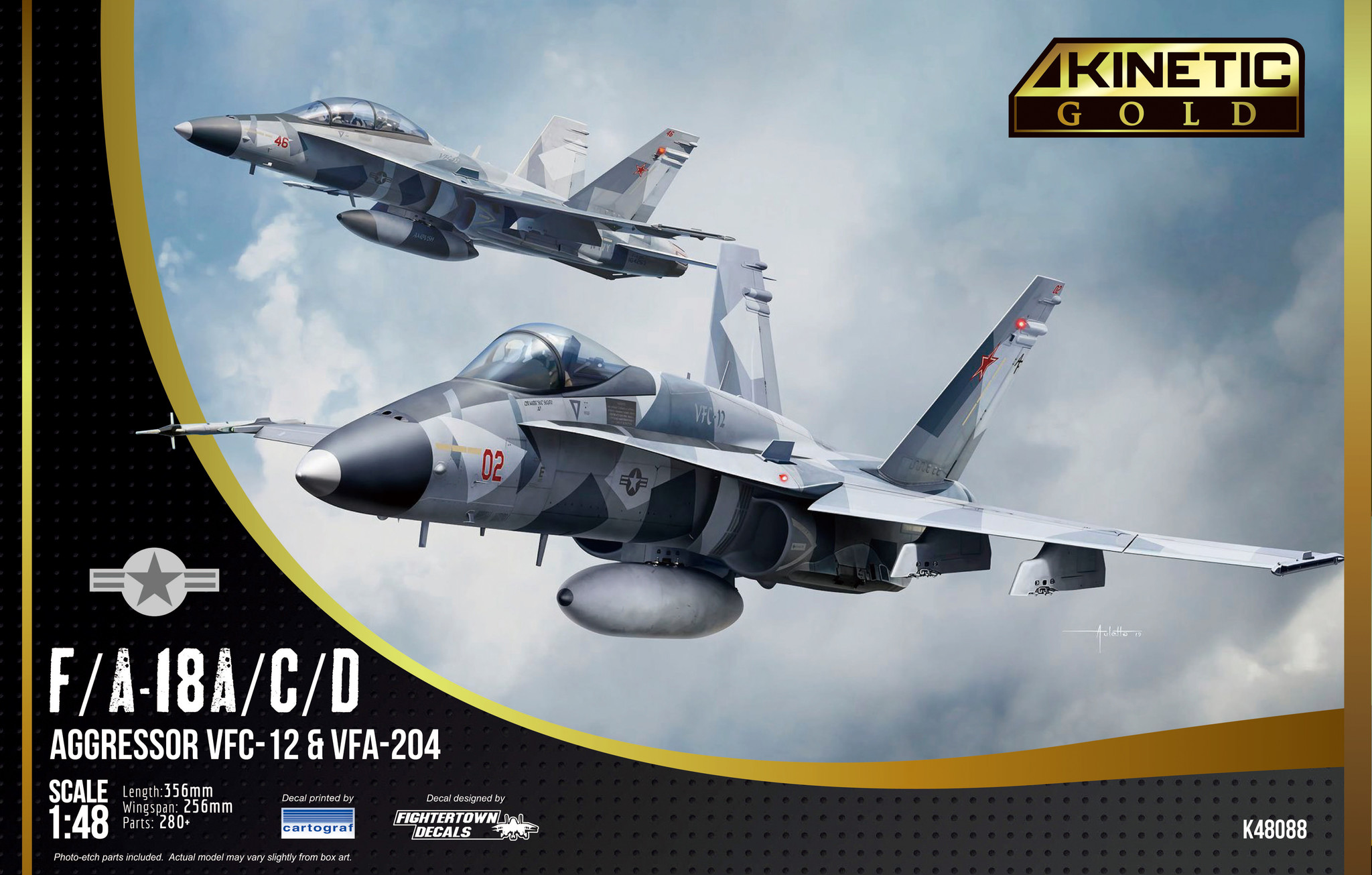 Kinetic F/A-18A/D Vfc-112 Aggressor - Scale 1/48 - Kinetic - KIN48088