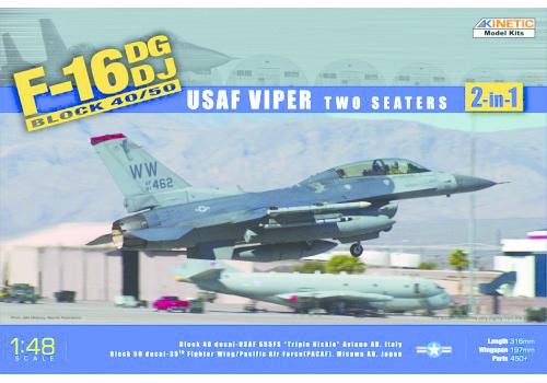 Kinetic F-16Dg/Dj Block 50 - Usaf Viper 2-In-1 - Scale 1/48 - Kinetic - KIN48005