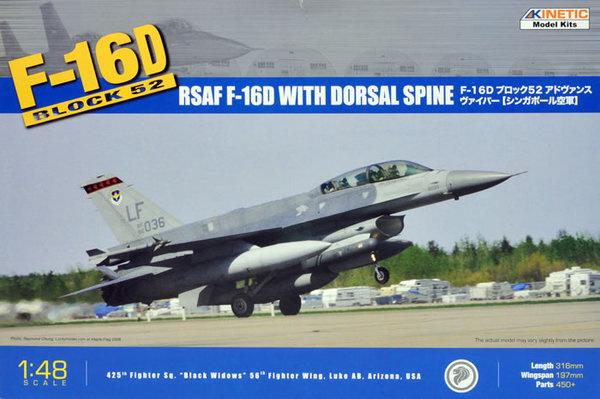Kinetic F-16D Block 52+ Rsaf - Scale 1/48 - Kinetic - KIN48007