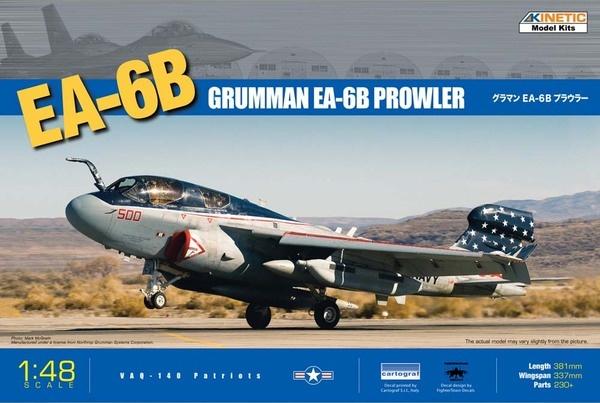 Kinetic Grumman EA-6B Prowler - VAQ - 140 Patriots - Scale 1/48 - Kinetic - KIN48022