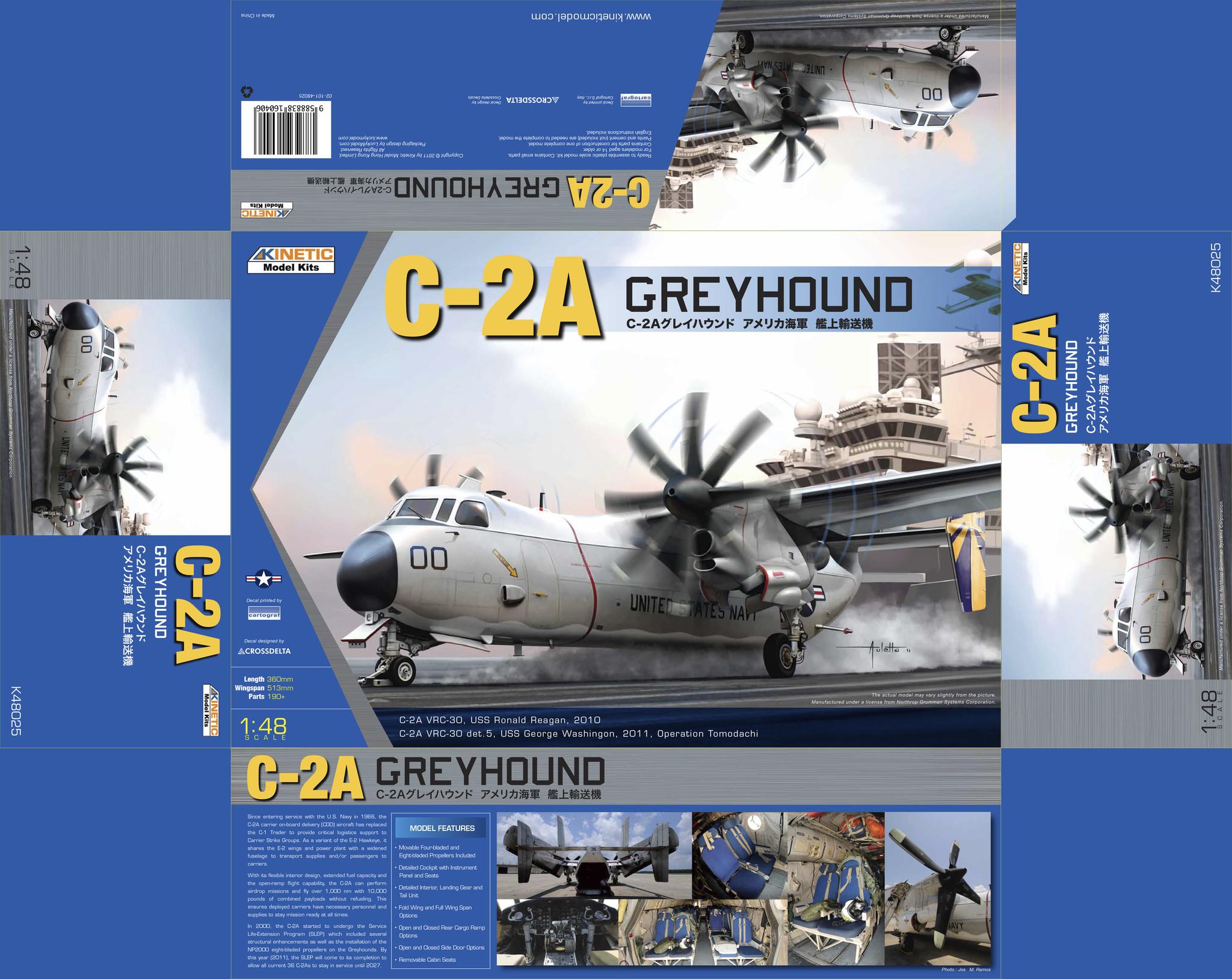 Kinetic C-2A Greyhound - Scale 1/48 - Kinetic - KIN48025