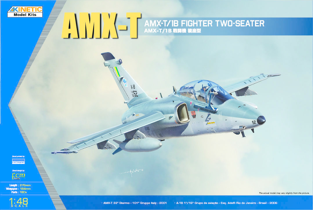Kinetic Amx-T/1B Two-Seater Fighter - Scale 1/48 - Kinetic - KIN48027