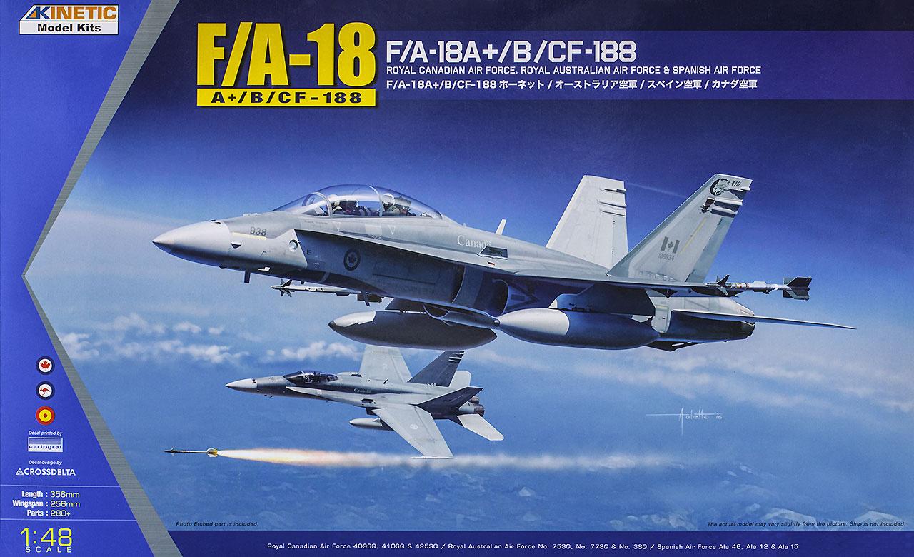Kinetic F/A-18A+, Cf-188 - Scale 1/48 - Kinetic - KIN48030