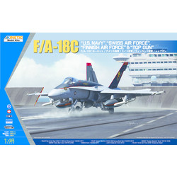 F/A-18C Us Navy, Swiss Airforce, Finnish Airforce & Topgun - Scale 1/48 - Kinetic - KIN48031