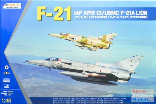 Kinetic Iaf Kfir C1 / Usmc F-21A - Scale 1/48 - Kinetic - KIN48053
