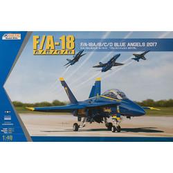Usn Blue Angle 2017 F/A-18A/B/C/D - Scale 1/48 - Kinetic - KIN48073