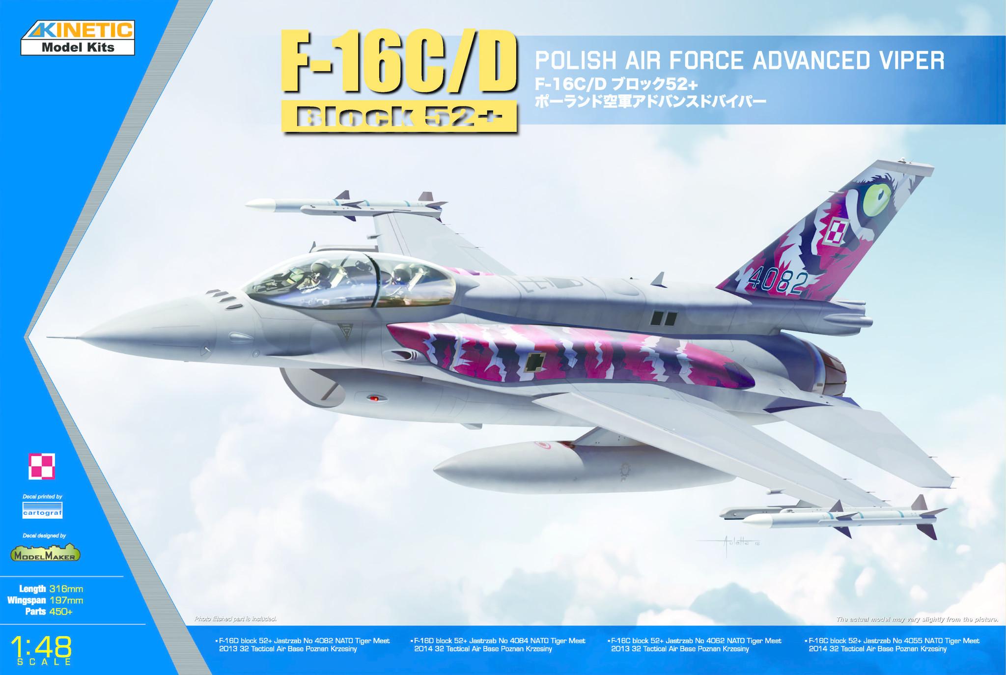 Kinetic F-16C/D Polish Tiger Meet 2013/2014 - Scale 1/48 - Kinetic - KIN48076