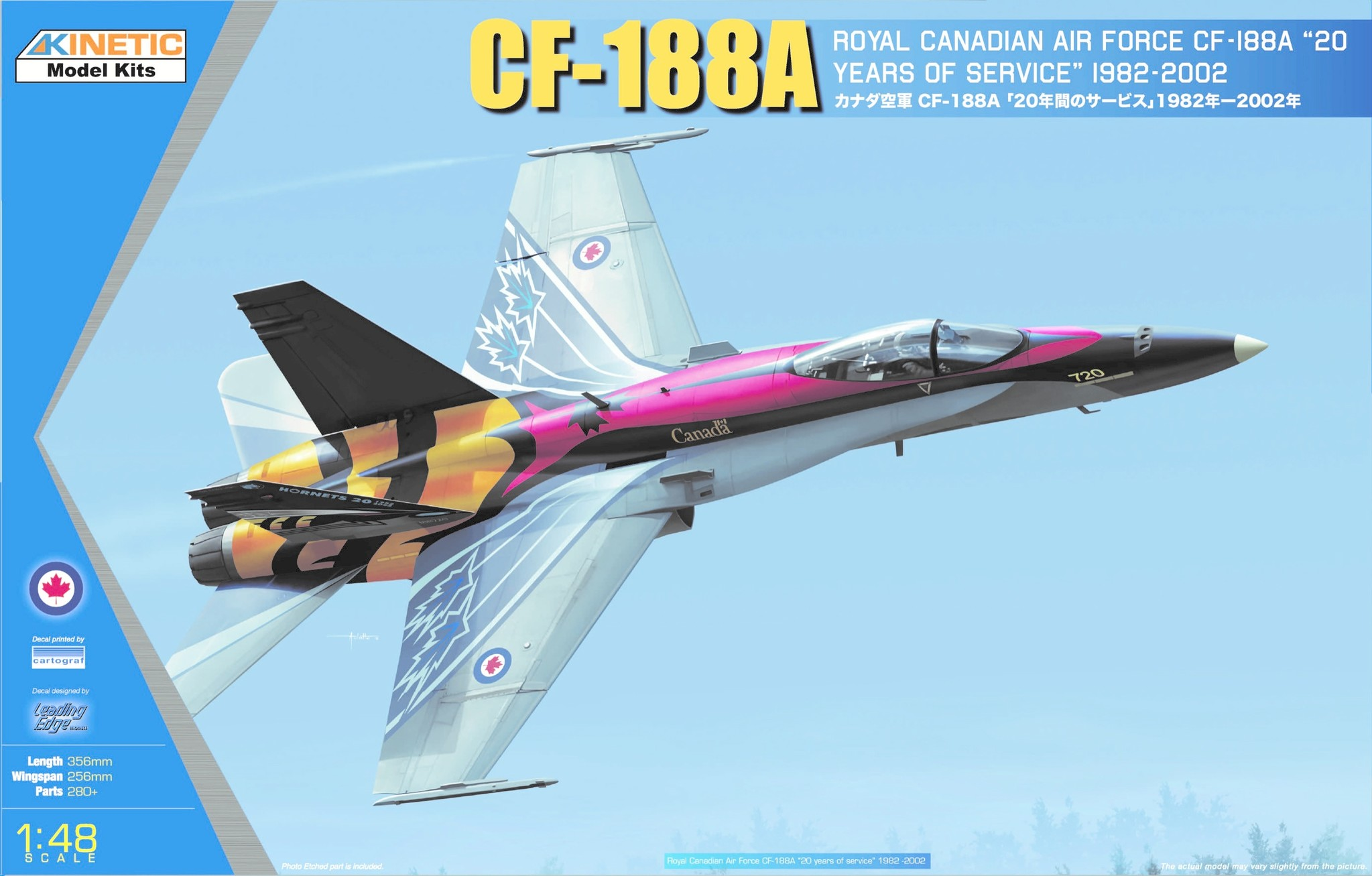 Kinetic Cf-188A 20 Yrs Services - Scale 1/48 - Kinetic - KIN48079