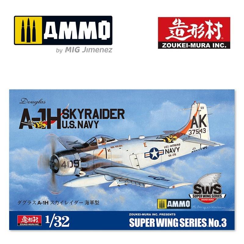 Douglas A-H1 Skyraider U.S. Navy - Scale 1/32 - Zoukei Mura - VOLKSWS03