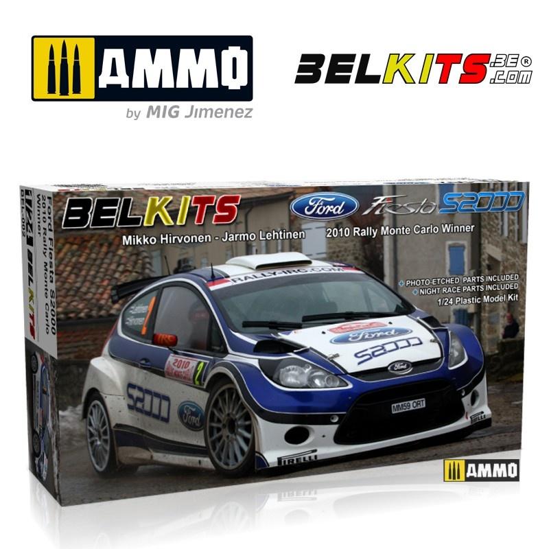 Belkits Ford Fiesta S2000 Hirvonen Mc 2010 - Scale 1/24 - Belkits - BEL002