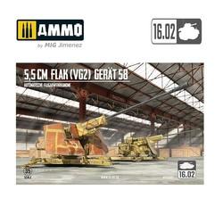 5,5Cm Flak (Vg2) Gerät 58 Autom. Flugabwehrkanone - Scale 1/35 - 16,02 - VK35001
