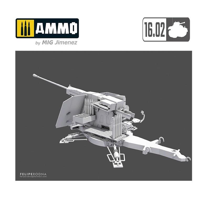 16,02 5,5Cm Flak (Vg2) Gerät 58 Autom. Flugabwehrkanone - Scale 1/35 - 16,02 - VK35001