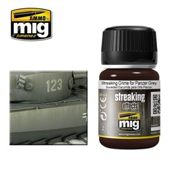 Streaking Grime For Panzer Grey - 35ml - Ammo by Mig Jimenez - A.MIG-1202
