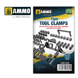 Tiger Tool Clamps - Scale 1/35  - Ammo by Mig Jimenez - A.MIG-8080