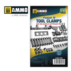 Panzer Iv Tool Clamps - Scale 1/35  - Ammo by Mig Jimenez - A.MIG-8081