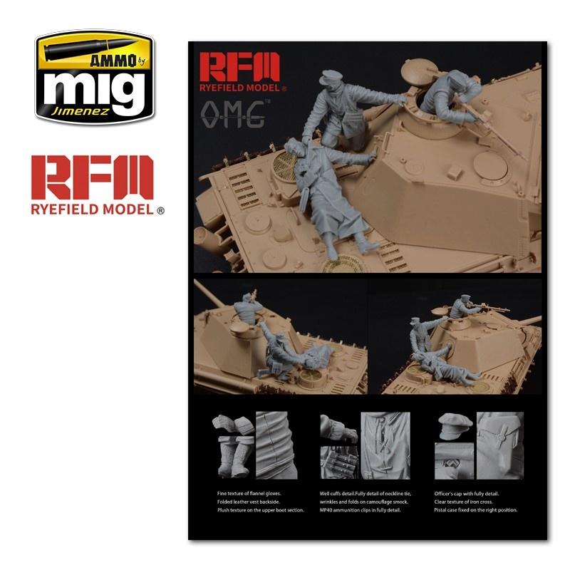 Rye Field Models Fallen Figures. For German Tank Sd.Kfz. 171 Panther G Late Production - Scale 1/35 - Reye Field Models - OM35001