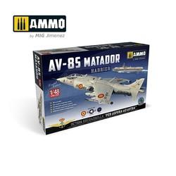 Harrier Av-8S Matador - Spanish, American, British Versions - Scale 1/48  - Ammo by Mig Jimenez - A.MIG-8505