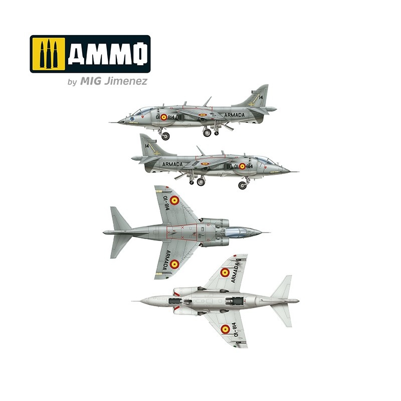 Ammo by Mig Jimenez Harrier Av-8S Matador - Spanish, American, British Versions - Scale 1/48  - Ammo by Mig Jimenez - A.MIG-8505