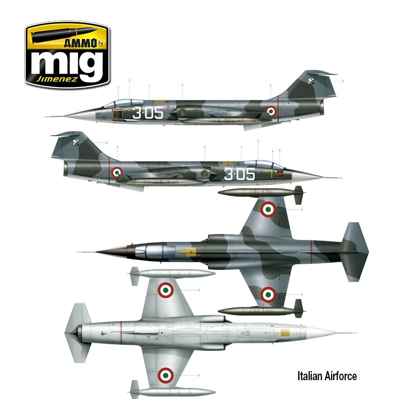 Ammo by Mig Jimenez F-104G Starfighter - Spanish, Canadian, Italian, Greek, Norwegian, Turkish Versions - Scale 1/48  - Ammo by Mig Jimenez - A.MIG-8504